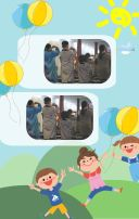 开学啦!小学幼儿园开学典礼踏青模版
