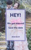 浪漫紫色蕾丝花朵邀请函