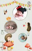 欧美童话宝宝满月邀请
