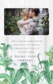 清新简约文艺高级绿植婚礼请柬 婚礼邀请函