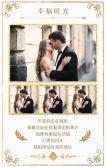 简约欧美风时尚杂志风高端淡雅大气欧式婚礼结婚请柬高贵请帖喜帖邀请函
