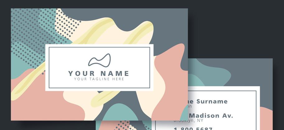 好看的社交名片设计欣赏 一眼学会社交名片设计