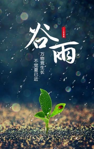 谷雨节二十四节气传统习俗普及
