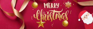红色圣诞简约互联网宣传促销电商banner