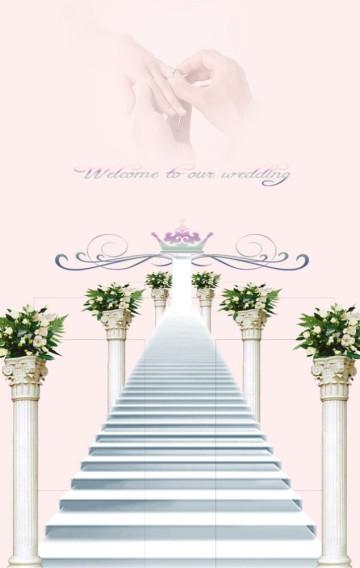 唯美粉色高端婚礼邀请函