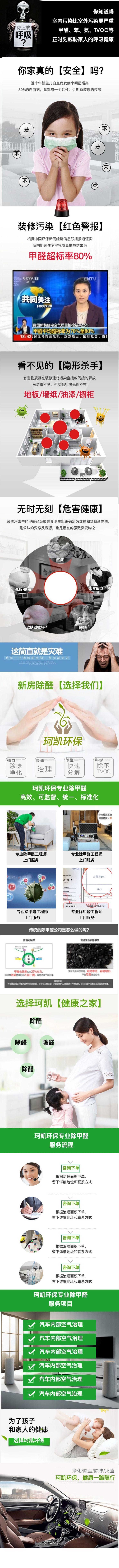 绿色清新除醛环保服务电商详情图