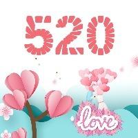 520情人节产品促销活动话题互动分享红色简约卡通扁平化微信公众号封面小图通用