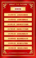 简约企业宣传册高端大气红色企业宣传红金风招商手册H5