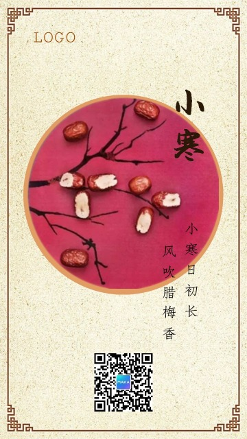 小寒中国风文化民俗企业宣传推广海报-浅浅设计