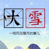 简约文艺传统二十四节气大雪微信公众号小图