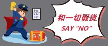 315国际消费者权益日简约公众号封面