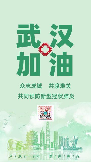 新型肺炎武汉加油疫情卫生健康宣传公益海报