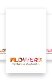 简约唯美清新花艺花卉品牌展示