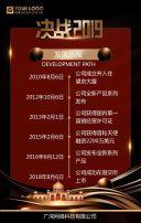 酷炫大气红金色企业文化介绍宣传手册H5