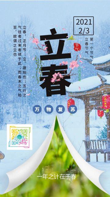 二十四节气之立春宣传海报