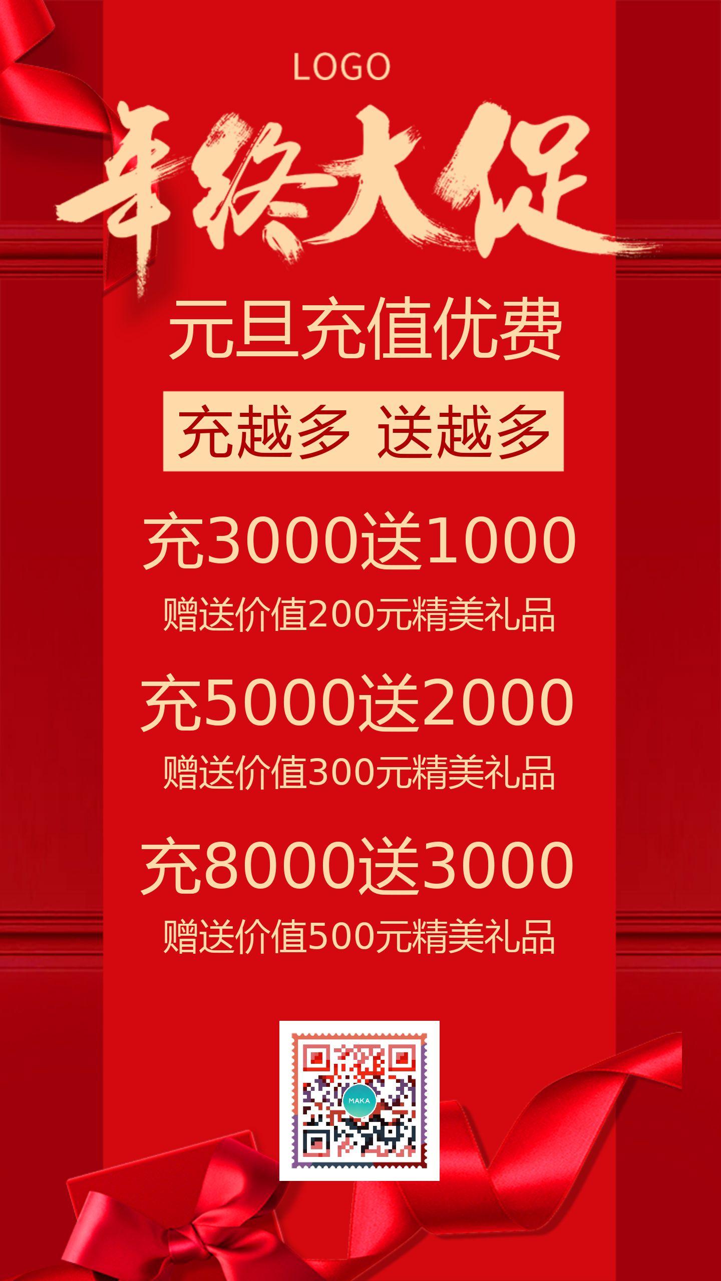 简约会员日周年庆元旦新年VIP充值活动促销大酬宾圣诞优费年终促销钜惠海报