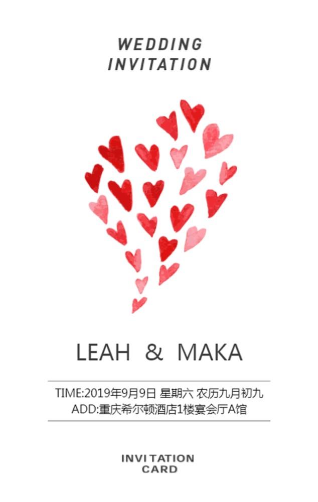 简约时尚高级婚礼邀请函