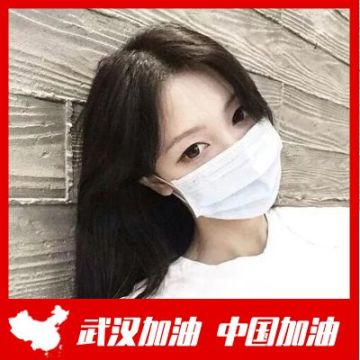 红色简洁大气助力武汉武汉加油微信头像框