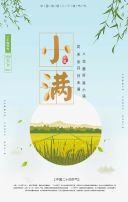蓝色清新小满节日宣传翻页H5