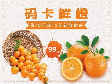 限时团购码卡鲜橙特惠促销海报