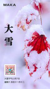 大雪24节气宣传海报