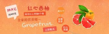 活力清新西柚电商banner