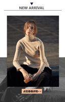 时尚简约高端女装新品上市促销宣传模板