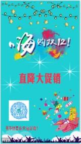双12促销活动清新海报