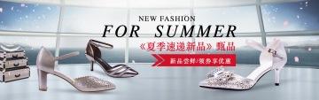 夏季新品促销鞋类电商banner