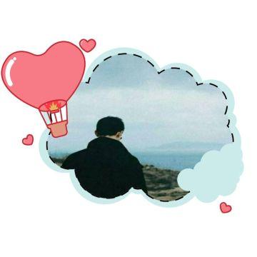 可爱白云对话框社交头像