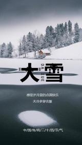 黑色调传统二十四节气大雪时节
