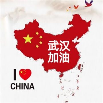 水墨风中国地图武汉加油我爱中国助力微信头像框