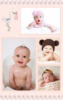 粉色简约可爱宝宝成长相册H5