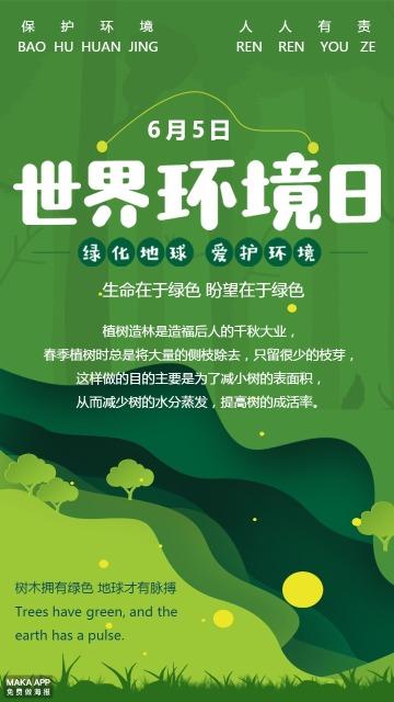 绿色世界环境日保护环境海报