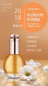 高端化妆品精油秋冬春季新品上市海报