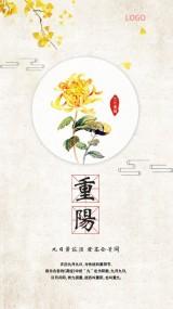素雅中国风淡菊重阳节祝福短视频