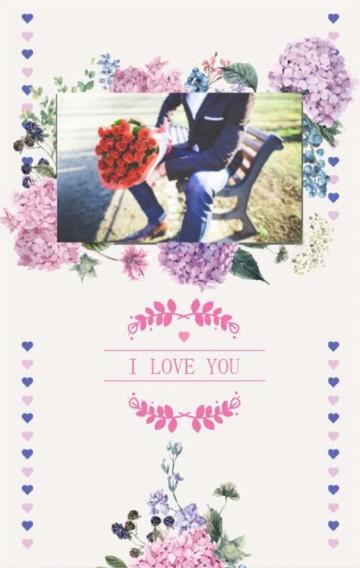 紫色 浪漫 花卉 婚礼 爱情 相册