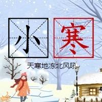 简约文艺传统二十四节气小寒微信公众号小图