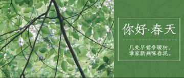 小清新春天季节公众号封面头图