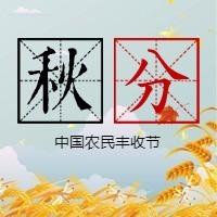简约文艺传统二十四节气秋分微信公众号小图