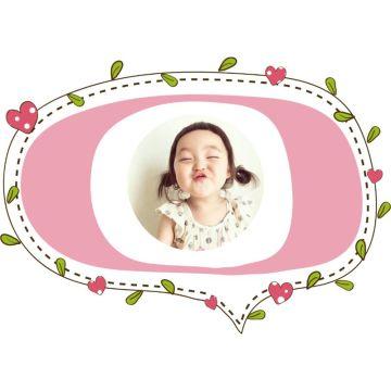粉色卡通小清新方框社交头像