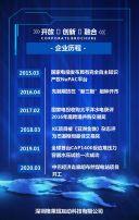 蓝色商务企业宣传画册H5