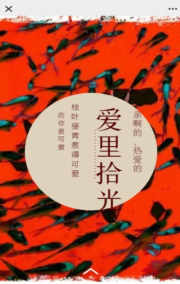 婚礼喜庆年年有鱼红色表白宣传H5