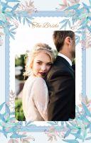 浪漫甜美水彩手绘花卉结婚贺卡 婚礼邀请函