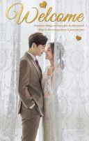 橙色快闪轻韩式时尚简约结婚请柬H5