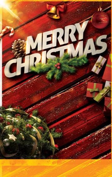 圣诞节活动单页