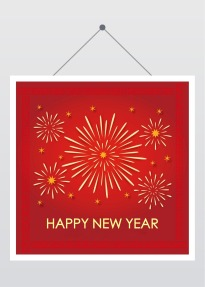 简约新年祝福促销推广 公众号封面次条小图