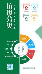 垃圾分类推行公益活动环保绿色小清新企业公益宣传海报