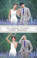清新极简结婚请柬婚礼邀请函