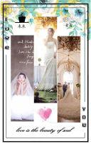 简约高端时尚 森系蒂芙尼蓝 清新文艺韩式  浪漫唯美创意婚礼请柬